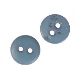 Bouton rond mat classic bleu denim - 12 & 15 mm