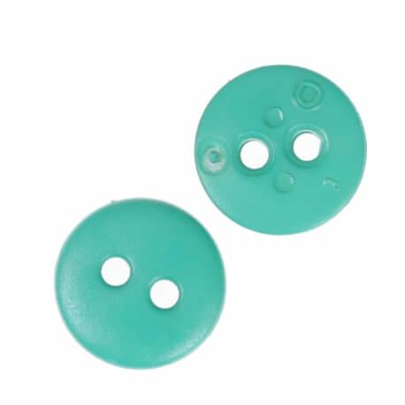 Bouton rond mat classic vert émeraude - 12 & 15 mm