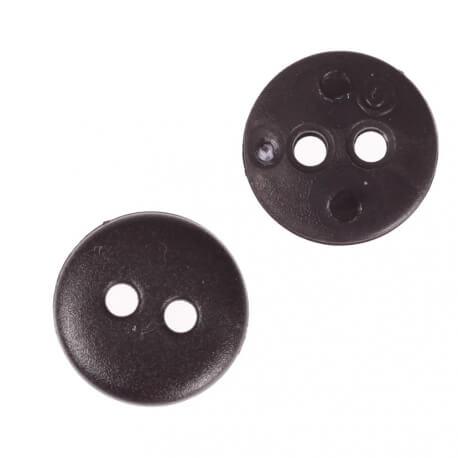 Bouton rond mat classic noir - 12 & 15 mm