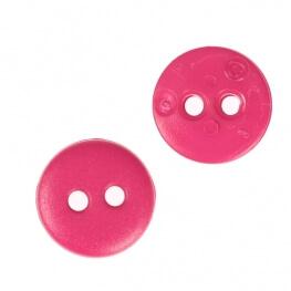 Bouton rond mat classic rose fuchsia - 12 & 15 mm