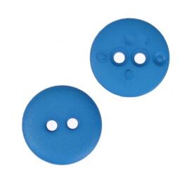 Bouton rond mat classic bleu - 12 & 15 mm