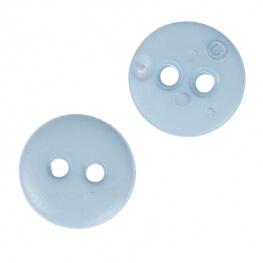 Bouton rond mat classic bleu ciel - 12 & 15 mm
