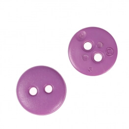Bouton rond mat classic violet - 12 & 15 mm