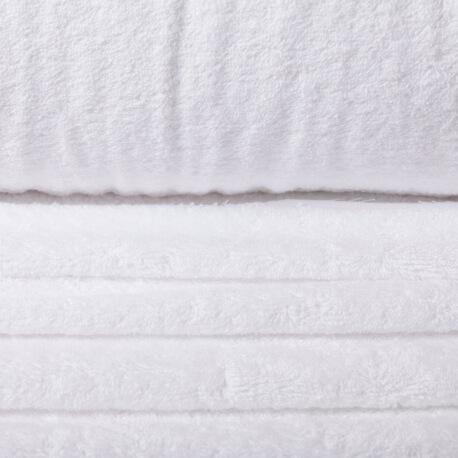 Tissu éponge blanc