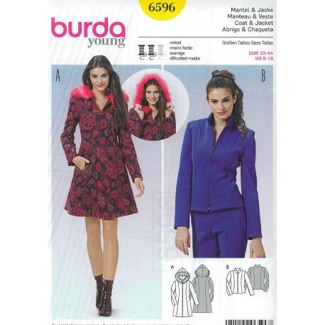 Patron manteau & veste femme - Burda 6596