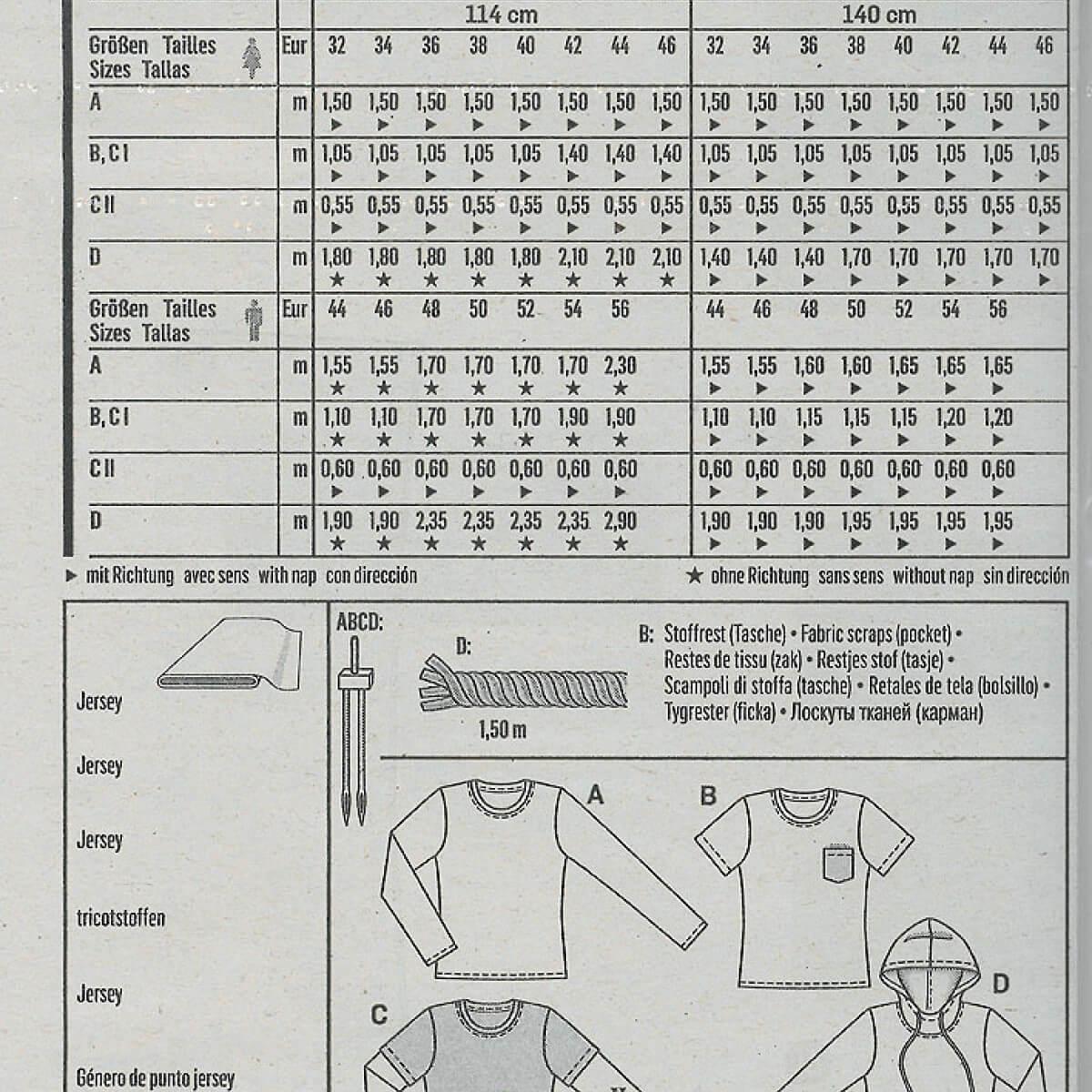 Extrem Patron t-shirt et t-shirt à capuche femme & homme - Burda 6602  JC76