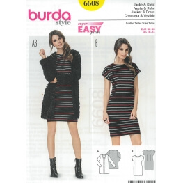 Patron robe & veste femme - Burda 6608