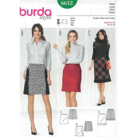 Patron jupe femme - Burda 6612