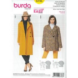 Patron veste & manteau femme - Burda 6736