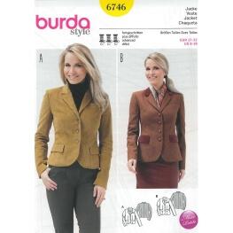 Patron veste femme - Burda 6746