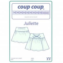 Patron fille jupe avec plis ou fronçes - 2 à 12 ans