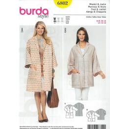 Patron veste & manteau femme - Burda 6802