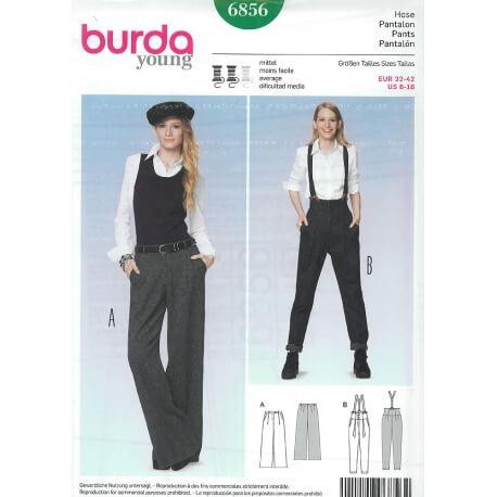 Patron de pantalon femme - Burda 6856
