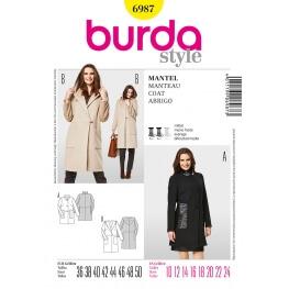 Patron veste & manteau femme - Burda 6987