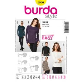 Patron t-shirt et pull femme - Burda 6990
