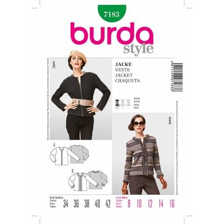 Patron veste femme - Burda 7183