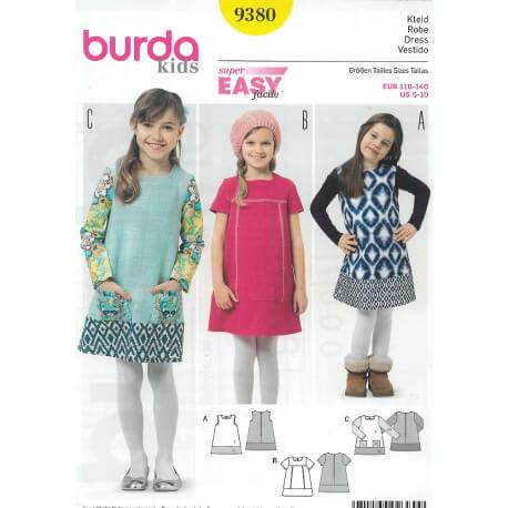 Patron robe enfant - Burda 9380