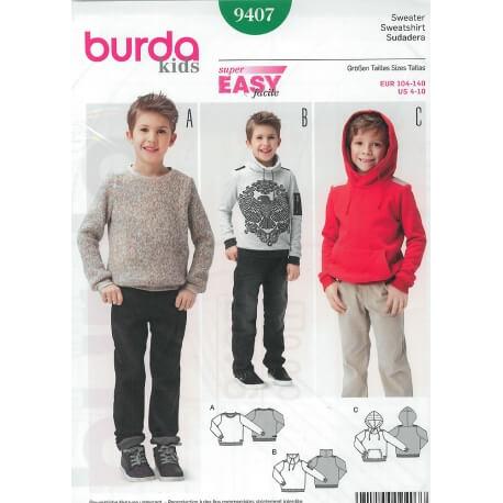 Patron sweat-shirt enfant garçon - Burda 9407