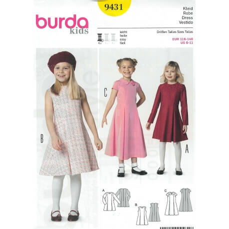 Patron robe enfant - Burda 9431