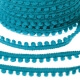 Ruban galon petit pompon au mètre - Bleu turquoise
