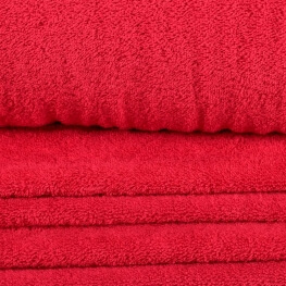 Tissu éponge rouge