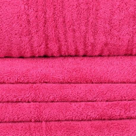 Tissu éponge rose pink flambe