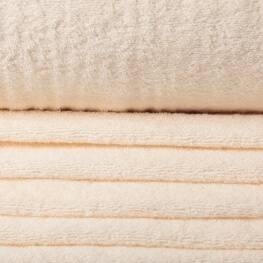 Tissu éponge écru antique white