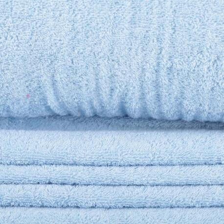 Tissu éponge bleu rivière