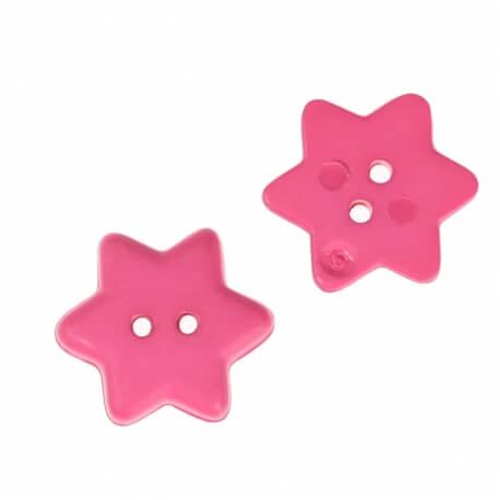 Bouton étoile 15mm - Rose