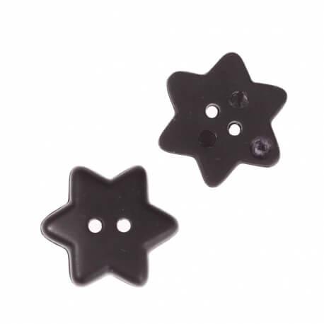 Bouton étoile 15mm - Noir