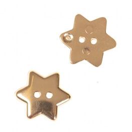 Bouton étoile brillante 15mm - Doré
