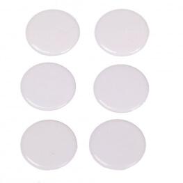 Boutons pressions métal rond 11,5mm - Blanc