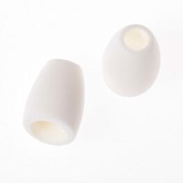 Embout cordon uni - Blanc