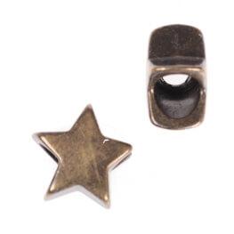 Embout cordon étoile ou bijoux décoratif - Laiton antique