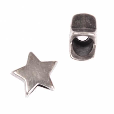 Embout cordon étoile ou bijoux décoratif - Argent