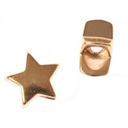 Embout cordon étoile ou bijoux décoratif - Doré