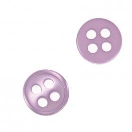 Bouton rond 4 trous à coudre parme - 9 & 11 mm