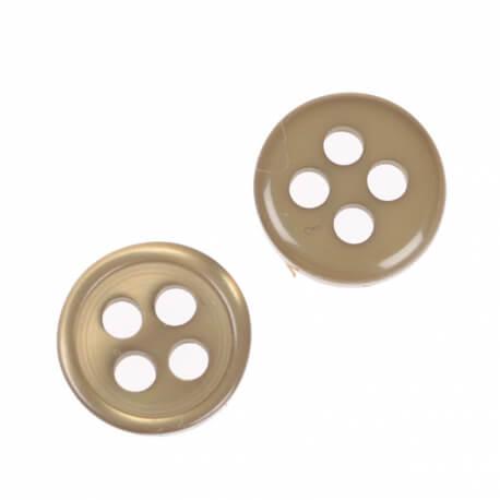 Bouton rond 4 trous à coudre vert - 9 & 11 mm