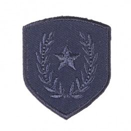 Ecusson blason étoile & laurier - Bleu marine
