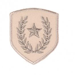 Ecusson blason étoile & laurier - Beige