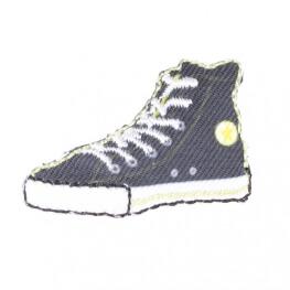 """Ecusson basket rétro """"converse"""" - Noir"""