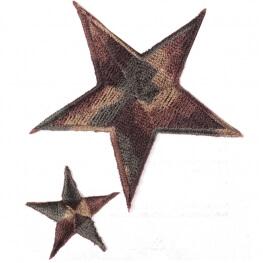 Ecusson étoiles camouflage - Marron & kaki