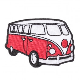 Ecusson véhicule combi VW - Rouge & blanc