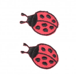 Ecussons coccinelles - Lot de 2