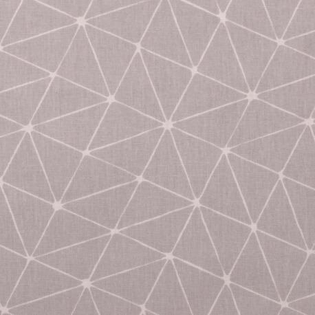 Tissu coton cretonne graphique origami - Gris clair