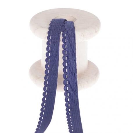 Elastique festonné lingerie au mètre - Bleu marine
