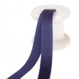Elastique lingerie pour bretelles au mètre - Bleu marine