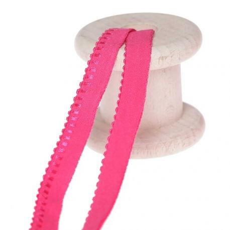 Elastique lingerie d'encolure au mètre - Rose fuchsia