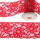 Dentelle élastique fleurie 55mm au mètre - Rouge
