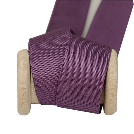 Ruban sangle uni satiné 35mm - Violet